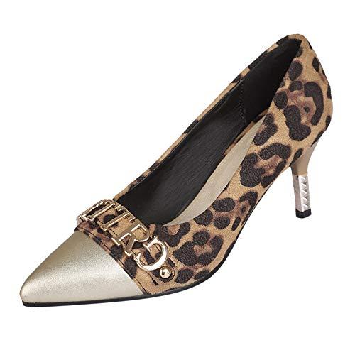 Frauit scarpe donna eleganti con tacco medio e strass scarpe donne decollete leopardate sandali ragazza tacco basso eleganti gioiello scarpe da cerimonia chiuse scarpe sposa scarpe sexy a spillo
