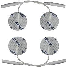 4 Elettrodi / pad per TENS ed elettrostimolatori, tondi, 32mm,con attacco universale a spinotto da 2mm