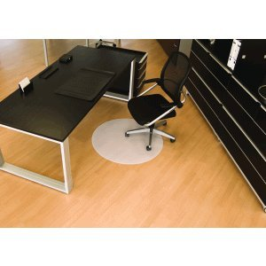 BSM Bodenschutzmatte für Hartböden 60cm milchig/transparent rund