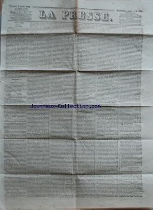 PRESSE (LA) [No 4754] du 06/07/1849