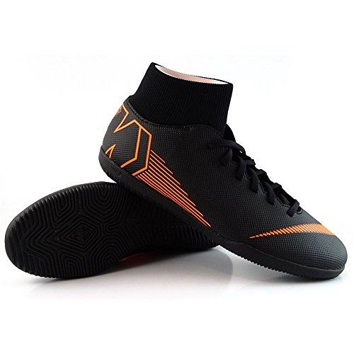 Nike Unisex-Erwachsene Superflyx 6 Club IC Fußballschuhe Schwarz (Blacktotal Orangewhite 081)
