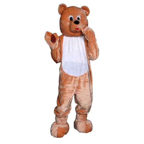 Dress Up America 359-Adult - Teddybär-Kostüm Set, (Kostüm Anzug Teddy Bär)
