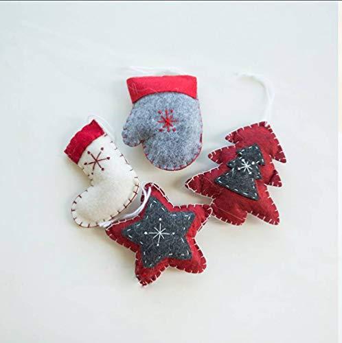 LYSL Weihnachtsdekoration, Weihnachtsbaum Dekorationen kleine Puppenschmuck kleine Geschenke kleine Weihnachtsspielzeug das an das Fenster und Geschenke aufgehängt Werden kann -
