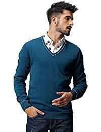 Match Men's Knitwear V-Neck Sweater #1621