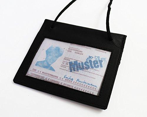 Safekeepers - Brustbeutel - Brusttasche - Brustbeutel Leder - Reisegeldbeutel aus Leder (Schwarz) Schwarz