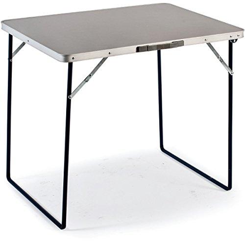 Aluminium Campingtisch Zusammenklappbar. Platzsparend. Mehrzwecktisch für Indoor und Outdoor zum Zelten, Koffertisch, Campingtisch Hochwertiger Klapptisch mit Tragegriff und Stahlrahmen