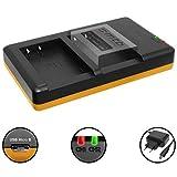 Dual-Ladegerät (Netz, USB) für Canon LP-E17 / EOS 77D, 200D, 750D, 760D, 800D / EOS M3, M5, M6 - inkl. 2A Netzteil (2 Akkus gleichzeitig ladbar)
