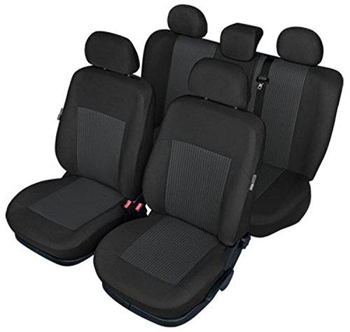 ZentimeX Z737723 Sitzbezüge Vordersitze + Rückbank Stoff Airbag-Kompatibel