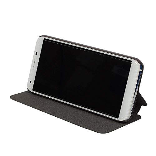 Oukitel K5 Case Hülle 2 in 1 Flip Hülle Handysocken Schutzhülle Standfunktion Tasche und - Beschützer Smartphone (Schwarz)