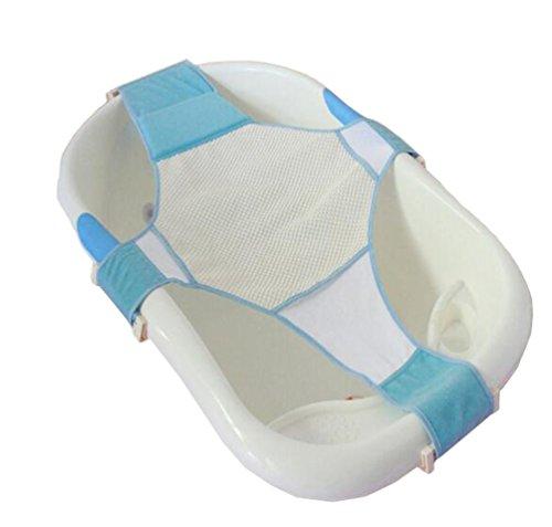 Neugeborenes Baby Badesitz Net Unterstützung Verstellbare Sitz in Badewanne Mesh Netzhängematte (blau)