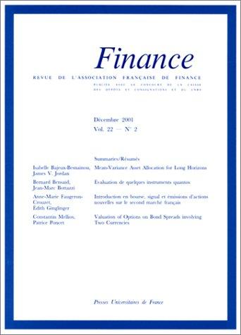 Finance, volume 22
