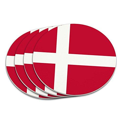Dänemark National Country Flag Untersetzer Set