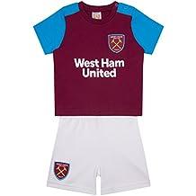 West Ham United FC - Conjunto oficial de pantalón corto y camiseta - Bebés - Colores
