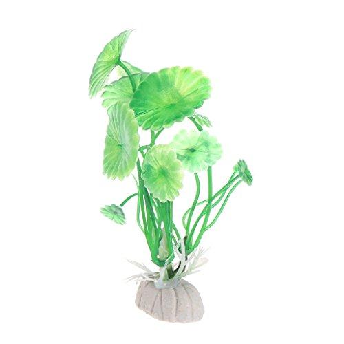 ECMQS Simulation Lotus blatt Aquarium Ornament Landschaft Gras Künstliche Pflanzen Aquarium Dekoration (Grün)