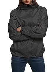 Zeagoo Chaqueta impermeable para mujer senderismo chaqueta impermeable al aire libre chaqueta ligera y transpirable con capucha