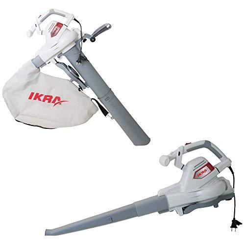 IKRA Elektro 3in1 Laubsauger Laubbläser Laubhäcksler ILS 3000 E inkl Fangsack 45l Blasgeschwindigkeit 300 km/h 3.000W