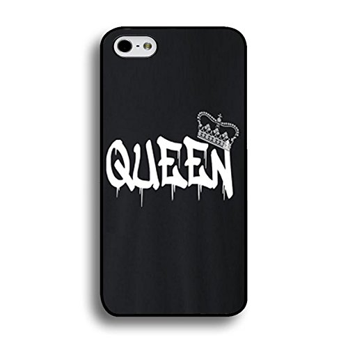 New Style Fashion Luxury King and Queen Couple Phone Case for IPhone 7 Phone Cases PC Back Mate Covers Case Color196d
