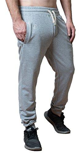 """Banqert, pantaloni della tuta da uomo """"jazzy joggs"""" pantaloni da allenamento- hellgrau / weiss xl"""