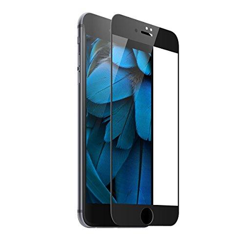 Preisvergleich Produktbild Teryei Panzerglas Pro für iPhone 7 - Panzer-Folie, Display-Schutzfolie deckt gesamte iPhone7 Front ab ( schwarz )