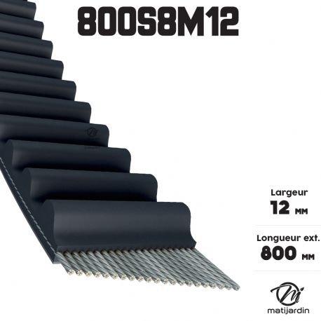 Courroie tondeuse simple denture 800-S8M12 n° 9585-0164-01 - Pièce neuve