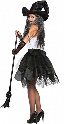 Schwarze Schleppe für Damen Kostüm Hexe Böse Königin Halloween Rock Turnüre (Halloween-kostüme Königin Bösen)