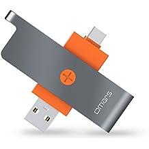 USB C Lector de Tarjetas Micro SD, OMARS Tipo C Adaptador con Conector USB-A y USB-C para Samsung Galaxy S8, Huawei Mate 9 / Honor 8 / P10 MacBook, MacBook Pro, ChromeBook Pixel