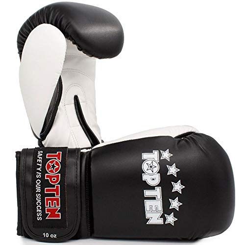 TOP Ten Boxhandschuhe, NK-II, schwarz Größe 10 Oz