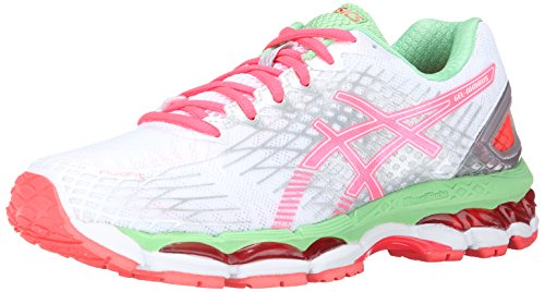 Asics Gel-Nimbus 17 Synthétique Chaussure de Course White/Hot Coral/Apple