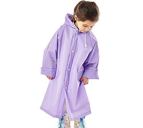 Flashing- Umwelt Eva Material Kind Regenmantel, Baby individuellen Walk On Foot Wasserdicht Poncho Jungen und Mädchen Outdoor Regenmäntel Schüler Poncho (Farbe : Lila, größe : XL)