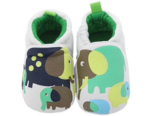 BONAMART Baby Mädchen Jungen Schuhe Pantoffeln BabySchuhe Für 0-24 Monaten Elefant