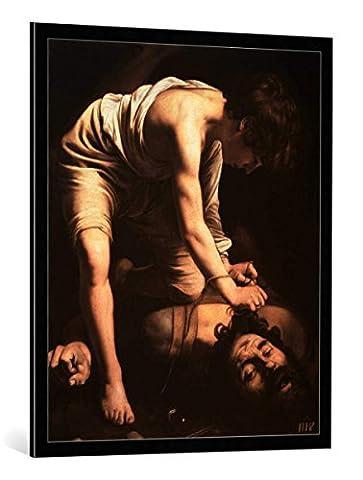 "Image encadrée: Michelangelo Merisi Caravaggio ""David triumphing over Goliath"" - impression d"