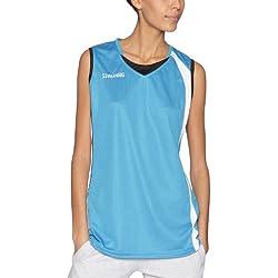 Spalding - Camiseta de baloncesto para mujer, tamaño M, color cyan bleu