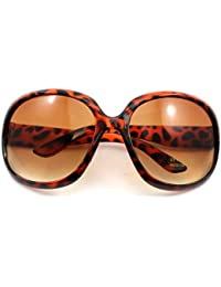 lunettes de soleil de grand cadre verres fumés(Leopard)