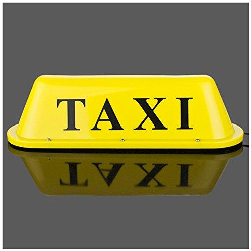 Taxi Top clair/Nouvelle Tête de LED Toit Taxi signer 12 V avec base magnétique lumière jaune taxi dôme