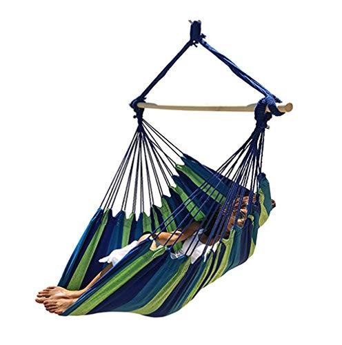 Lcyy-swing Gran Silla Hamaca brasileña Calidad Tejido de algodón para Comodidad Superior y Durabilidad-Cama Extra Larga-Silla Colgante para Patio, Dormitorio, Porche, Interior/Exterior