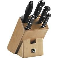 Zwilling Twin Gourmet Blok Bıçak Seti, Doğal Ahşap Bloklu, 6 Parça
