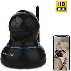 Caméra Surveillance WiFi Wansview Wireless Caméra IP - IP Webcam Caméra de Sécurité HD 1080P, Bébé/Animaux Domestiques Moniteur Q3s (Noire)