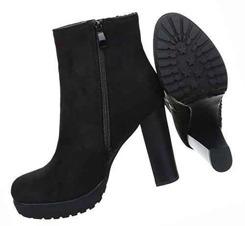 Stiefel Schlupf Stiefel Frauen Stiefeletten High Wadenhohe Stiefel Schwarz Damen Lederoptik Schuhe Stiefel Boots Heel Kurzschaft x4t7v7