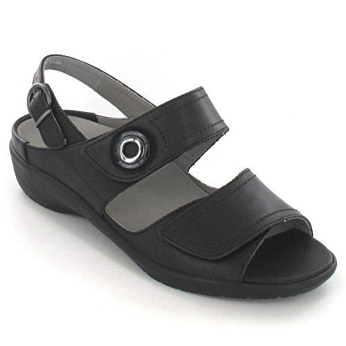 ara  37570-01, Sandales femme Noir - Noir