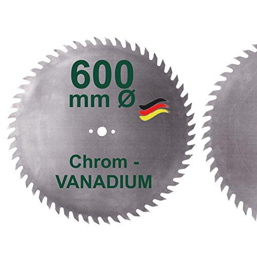 CV Sägeblatt 600 mm KV-A Wolfszahn Brennholzsägeblatt Chromvanadium für Wippsäge und Brennholz 600mm Kreissägeblatt