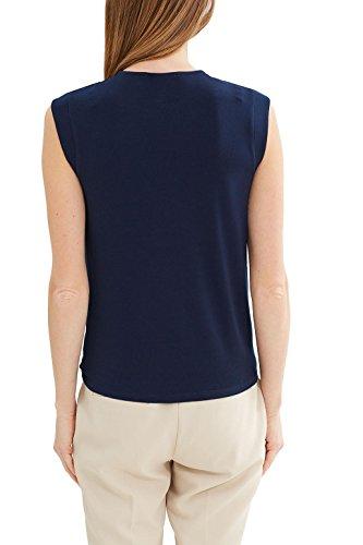 ESPRIT Collection Damen T-Shirt Blau (Navy 400)