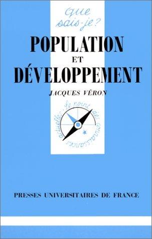 Population et Développement par Jacques Véron, Que sais-je?