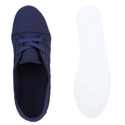 Damen Schuhe Sportliche Ballerinas Marineblau Gesteppt