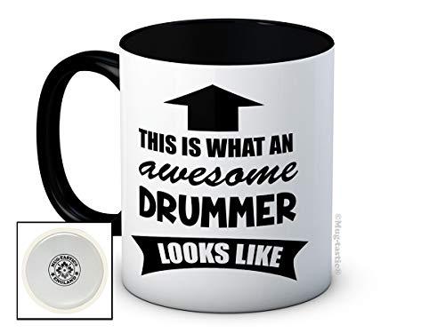 This is What an Awesome Drummer Looks Like - Haute Qualité Tasse à Café en Céramique