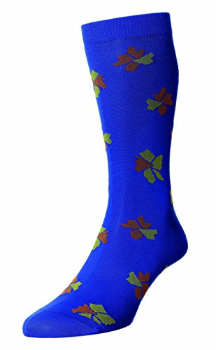 Richard James luxury socks -  Calze  - Uomo Blue, Mustard, Orange M