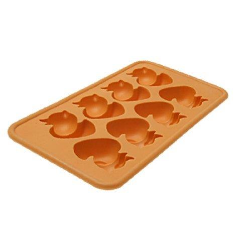 Ente TPR-Eis-Würfel-Form-Behälter-Kuchen Chocolate Candy Maker orange (Ente Kuchen-form)