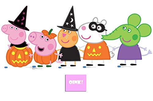 BundleZ-4-FanZ by Starstills Packung mit 5 Peppa Pig Halloween Thema Kollektion mit Suzy, Emily, George, Peppa and Candy, mit 25cm x 20cm Foto