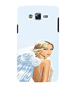printtech Beautiful Girl Angel Model Back Case Cover for Samsung Galaxy J1 (2016) / Versions: J120F (Global); Galaxy Express 3 J120A (AT&T); J120H, J120M, J120M, J120T Also known as Samsung Galaxy J1 (2016) Duos with dual-SIM card slots