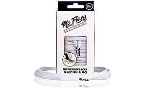 Mc Flexy Flache Elastische Schnürsenkel - Einmal Binden und Jeder Schuh wird zum Slipper - Ohne auf die Schleife zu Verzichten -Perfekt für Sneakers, Turnschuhe und Sportschuhe
