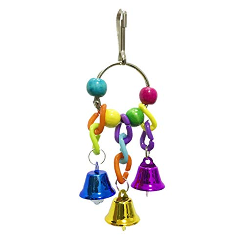 Yowablo Parrot Set Spielzeug 6 stücke schaukel Stehen Pfote Spielzeug bausteine beißen (6Teile/Satz,Mehrfarbig)